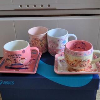 ダッフィー(ダッフィー)のダッフィーカップとお皿のセット(キャラクターグッズ)