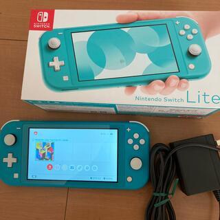 ニンテンドースイッチ(Nintendo Switch)のNintendo Switch Lite ターコイズ 本体セット中古 動作品(携帯用ゲーム機本体)
