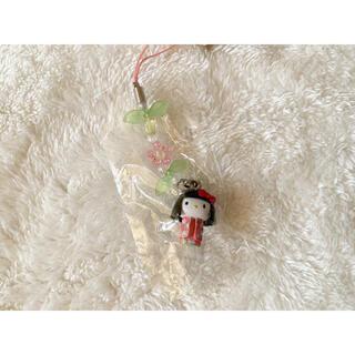 サンリオ(サンリオ)の✨新品未使用・未開封✨ キティちゃん 福井限定 若狭和紙人形 ストラップ(ストラップ)