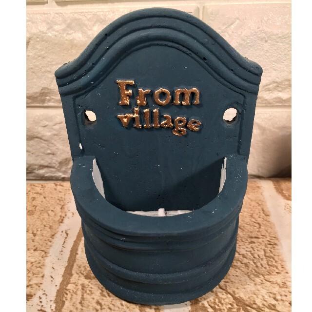 ☆レア ヨーロピアン プランター3個 アンティーク調 ヴィンテージカラー 半円形 ハンドメイドのフラワー/ガーデン(プランター)の商品写真