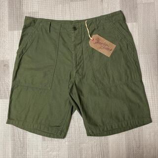 テンダーロイン(TENDERLOIN)の人気品! TENDERLOIN アーミー ショーツ パンツ オリーブ 緑 XL(ショートパンツ)