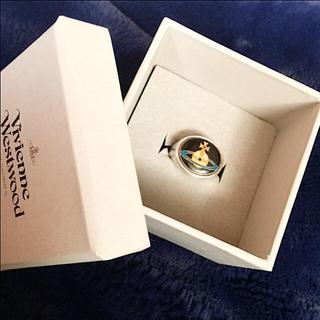 ヴィヴィアンウエストウッド(Vivienne Westwood)のまな様専用2/1まで 希少ヴィヴィアンエナメルオーブリング黒Mサイズ(リング(指輪))