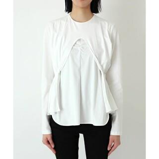 マメ(mame)のMame Kurogouchi /Cotton Jersey Curtain (シャツ/ブラウス(長袖/七分))