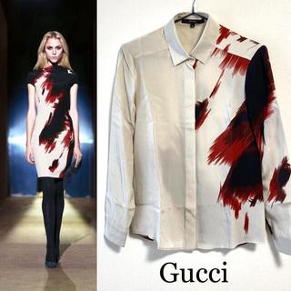 グッチ(Gucci)の10.Pre.Col GUCCI/グッチ 長袖シャツ/シルク・絹100%(シャツ/ブラウス(長袖/七分))