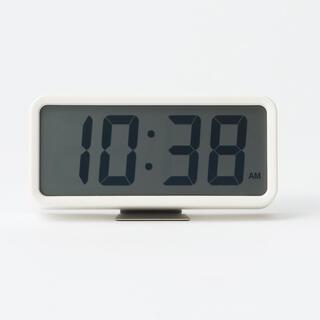ムジルシリョウヒン(MUJI (無印良品))の無印良品 デジタル時計・中(置時計)