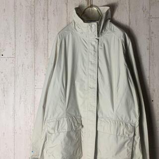 パタゴニア(patagonia)のパタゴニア ナイロンジャケット ロング丈 アイボリー XL P56(ナイロンジャケット)