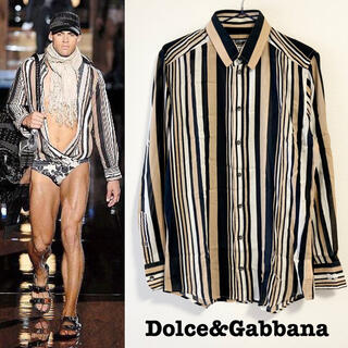 ドルチェアンドガッバーナ(DOLCE&GABBANA)の■Dolce&Gabbana/ドルチェ&ガッバーナ_長袖シャツ美品 ドレスシャツ(シャツ)