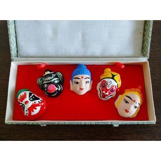 京劇隈どり 京劇の臉譜 中国工芸品(彫刻/オブジェ)