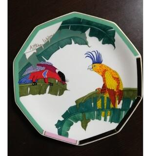 シセイドウ(SHISEIDO (資生堂))の1992年 資生堂花椿CLUB ノベルティ ボーンチャイナ プレート 大皿 鳥(食器)