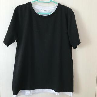 ウィゴー(WEGO)のレイヤードモノトーンTシャツ(Tシャツ/カットソー(半袖/袖なし))