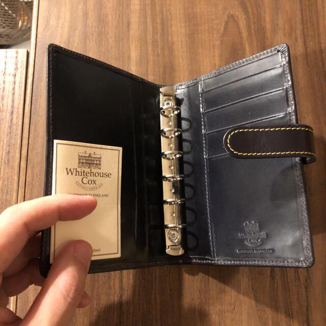 WHITEHOUSE COX(ホワイトハウスコックス)のS8754 SMALL ORGANISER NAVY 手帳 メンズのファッション小物(手帳)の商品写真
