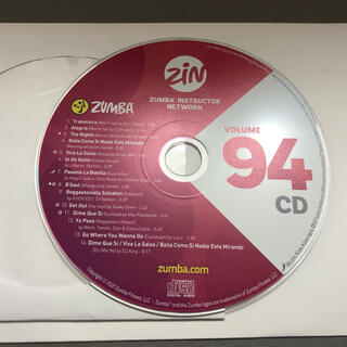 ZIN94 zumba CD 正規品