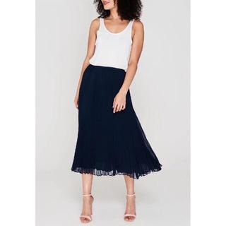 ポロラルフローレン(POLO RALPH LAUREN)のポロラルフローレン プリーツスカート 紺色 超美品(ロングスカート)