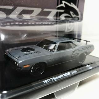 クライスラー(Chrysler)のM2/'71 Plymouthプリムス Hemiヘミ Cudaクーダ 1/64(ミニカー)