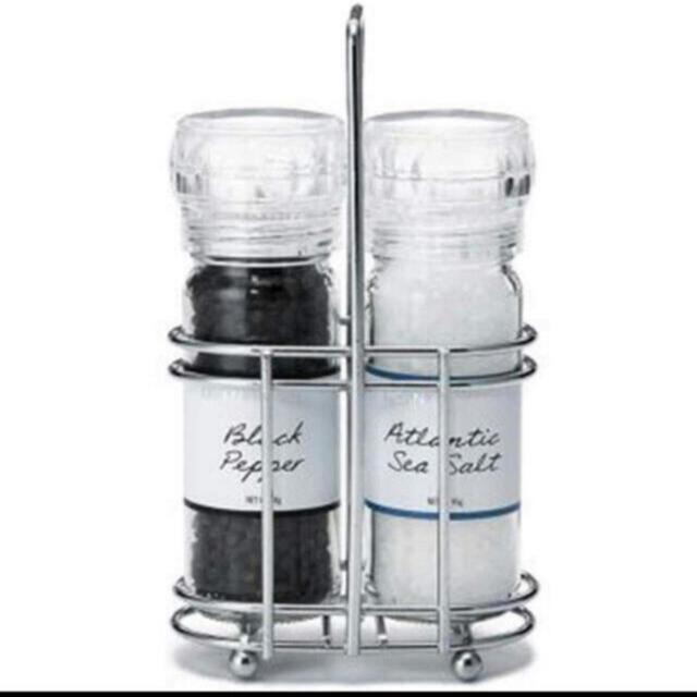 DEAN & DELUCA(ディーンアンドデルーカ)の新品‼️ DEAN&DELUCAソルト&ペッパー グラインダーセット 食品/飲料/酒の食品(調味料)の商品写真