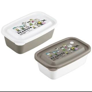 ピーナッツ(PEANUTS)のスヌーピー 保存容器 コンテナ ランチボックス 弁当箱 モノトーン グレー(容器)