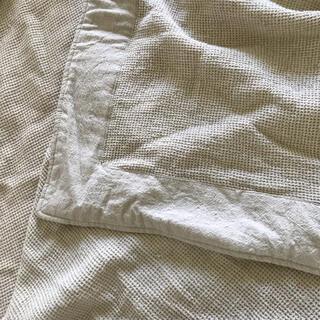 ムジルシリョウヒン(MUJI (無印良品))の無印良品 多用布 ベージュ 220×260 美品マルチカバー ソファカバー(ソファカバー)