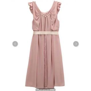 アクシーズファム(axes femme)のaxes femmeのパーティドレス ピンク 結婚式(ミディアムドレス)
