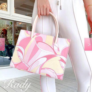 レディー(Rady)の美品Rady♡ミルフィーユマーブルショッパーバッグ(ハンドバッグ)