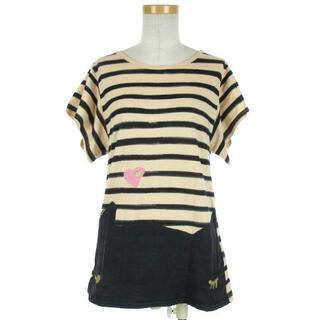 ツモリチサト(TSUMORI CHISATO)のツモリチサト Cat's Tシャツ 半袖 ボーダー TC24JK644 2(Tシャツ(半袖/袖なし))