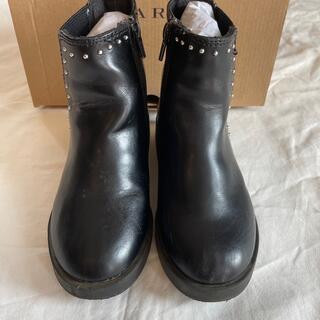 ザラ(ZARA)のZARA キッズ ブーツ スタッズ付き 27 17.5cm(ブーツ)