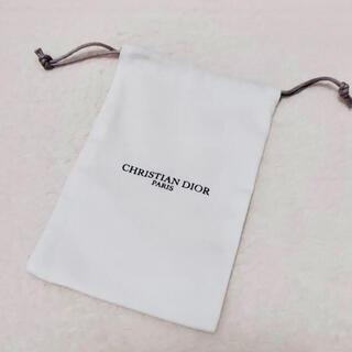 クリスチャンディオール(Christian Dior)の【新品】クリスチャンディオール ミニ巾着 白(ポーチ)
