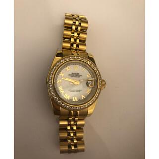 アイ(i)の腕時計 ゴールド 文字盤ホワイト(腕時計)