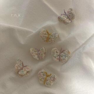プティマイン(petit main)の蝶々.・° ヘアゴム2set キッズ/ベビー/ハンドメイド(ファッション雑貨)