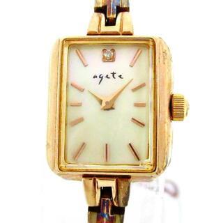 アガット(agete)のアガット - レディース ダイヤ0.02ct(腕時計)