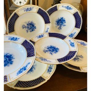 オオクラトウエン(大倉陶園)の大倉陶園 ブルーインペリアル  スーププレート(深皿)  6枚(食器)