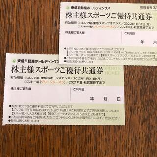 東急不動産 スポーツ優待共通券 2枚(その他)