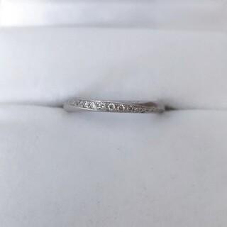 シライシ ダイヤモンド ブーケ リング Pt950 0.115ct 2.9g(リング(指輪))