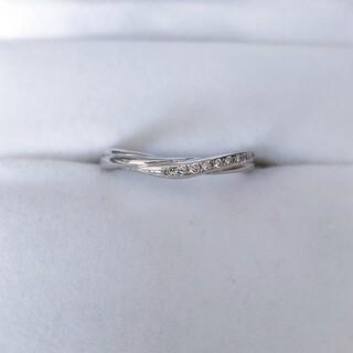 ちー様専用 シライシ ダイヤモンド リング Pt950 0.058ct 3.3g(リング(指輪))