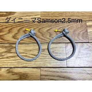 ダイニーマ Samson2.5mm ソフトシャックル(ソフトカラビナ)2本セット(テント/タープ)