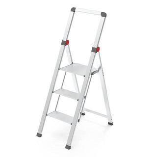 スリム式アルミ踏台 折りたたみステップ 脚立 ステップスツール はしご 3段(その他)