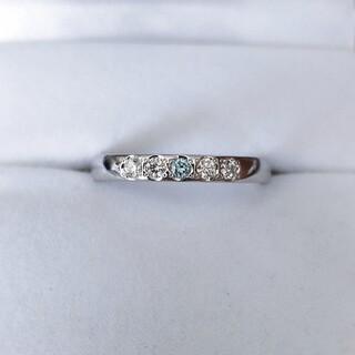 シライシ ダイヤモンド アノリュー リング Pt950 0.165ct 4.5g(リング(指輪))