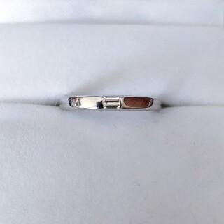 シライシ ダイヤモンド カルレ リング Pt950 0.066ct 3.3g(リング(指輪))