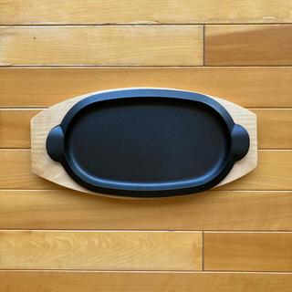 アイリスオーヤマ(アイリスオーヤマ)の南部鉄器 ステーキ皿 岩鋳 5枚セット ハンドル付き(鍋/フライパン)