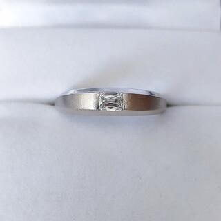 クリスカット ダイヤモンド リング Pt1000 0.25ct 5.8g(リング(指輪))