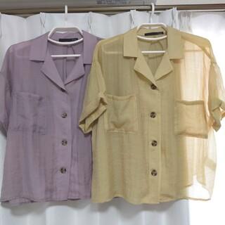 ヘザー(heather)のヘザー シアー半袖シャツ(Tシャツ(半袖/袖なし))