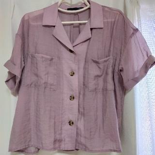 ヘザー(heather)のヘザー シアー半袖シャツ パープル(Tシャツ(半袖/袖なし))