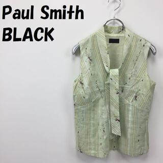ポールスミス(Paul Smith)のポールスミス ブラック ノースリーブ ボウタイブラウス サイズ40 レディース(シャツ/ブラウス(半袖/袖なし))