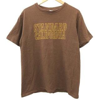 スタンダードカリフォルニア(STANDARD CALIFORNIA)のSTANDARD CALIFORNIA Tシャツ 半袖 ロゴプリント ブラウン(Tシャツ/カットソー(半袖/袖なし))