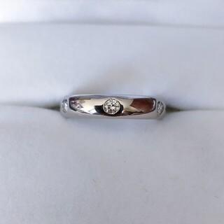 カルティエ(Cartier)のカルティエ 6p ダイヤモンド ステラ リング K18WG 4.0mm 4.1g(リング(指輪))