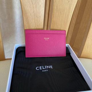 セリーヌ(celine)の極美品 セリーヌ カードケース ピンク(名刺入れ/定期入れ)