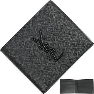 サンローラン(Saint Laurent)のSAINT LAURENT 二つ折り財布 メンズ 新品 ブラック 523277(折り財布)