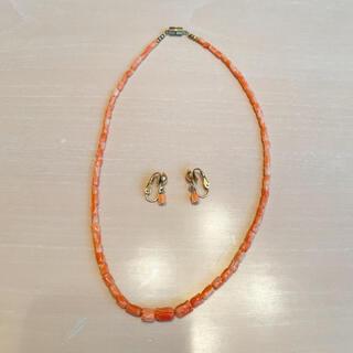 珊瑚 サンゴ アクセサリーセット(ネックレス)