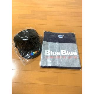 ブルーブルー(BLUE BLUE)のフラットキャップ & コットンTシャツ 限定品 2個セット(ウエア)