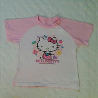 ハローキティ(ハローキティ)の95 Tシャツ キティ ピンク サンリオ パジャマ 肩ボタン(Tシャツ/カットソー)