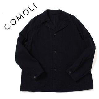 コモリ(COMOLI)の21AW size4 COMOLI デニムワークジャケット BLACK コモリ(カバーオール)